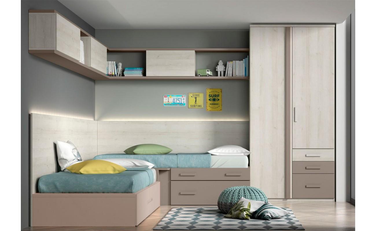 Armario y camas con módulo...